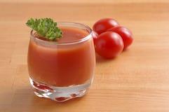 Jugo de tomate Imágenes de archivo libres de regalías