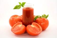Jugo de tomate Imagen de archivo libre de regalías
