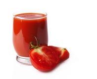 Jugo de tomate aislado Imagen de archivo