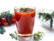 Jugo de tomate en un vidrio alto Foto de archivo