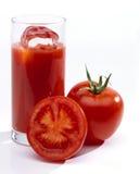 Jugo de tomate en vidrio Fotografía de archivo libre de regalías
