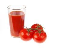 Jugo de tomate fresco Imagen de archivo