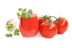 Jugo de tomate fresco Fotografía de archivo