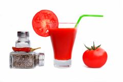 Jugo de tomate o Maria sangrienta Imagenes de archivo