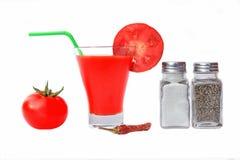 Jugo de tomate o Maria sangrienta Fotos de archivo