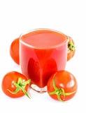 Jugo de tomate para la salud Imagenes de archivo
