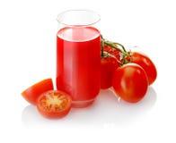 Jugo de tomate recién preparado Fotografía de archivo libre de regalías