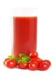 Jugo de tomate recientemente mezclado Fotografía de archivo libre de regalías