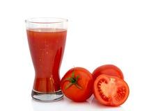 Jugo de tomate sano Fotografía de archivo
