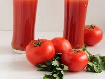Jugo de tomates Fotografía de archivo libre de regalías