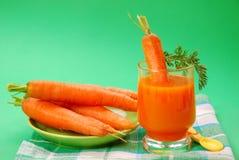 Jugo de zanahoria Imagen de archivo