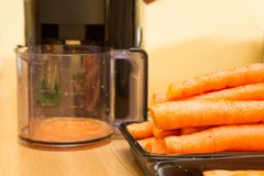 Jugo de zanahoria fotografía de archivo
