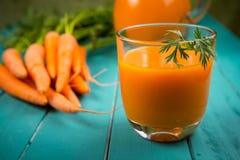 Jugo de zanahoria Fotografía de archivo libre de regalías