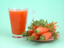 Jugo de zanahoria Imagen de archivo libre de regalías