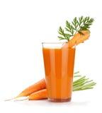 Jugo de zanahoria fresco Fotos de archivo libres de regalías