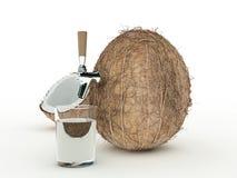 Jugo del coco Foto de archivo libre de regalías