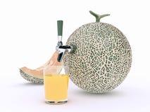 Jugo del melón Imágenes de archivo libres de regalías