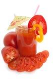 Jugo del tomate Fotografía de archivo