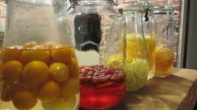 Jugo dulce del jarabe de las frutas en Osaka Fotos de archivo libres de regalías