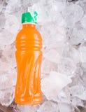 Jugo en botella II del mango Foto de archivo libre de regalías