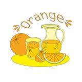 Jugo fresco anaranjado Fotografía de archivo