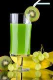 Jugo y frutas frescas - orgánicos, SE de las bebidas de la salud Fotografía de archivo libre de regalías