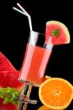 Jugo y frutas frescas - orgánicos, SE de las bebidas de la salud Foto de archivo