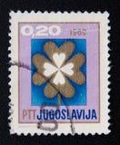 Jugoslawien-Stempel mit Bild der Blume Circa 1969 Lizenzfreie Stockfotografie
