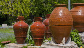 Jugs in the park Stock Photo