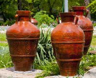 Jugs in the park Royalty Free Stock Photography