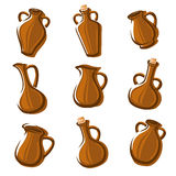Jugs set. Vector Stock Images