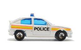 Juguete aislado del coche policía Fotografía de archivo