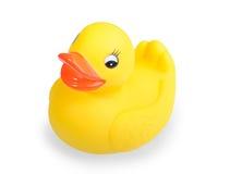 Juguete amarillo del pato Fotos de archivo libres de regalías