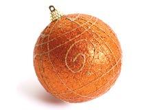 Juguete anaranjado de la Navidad Foto de archivo libre de regalías