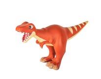 Juguete anaranjado plástico del dinosaurio, megalosaurus Imágenes de archivo libres de regalías