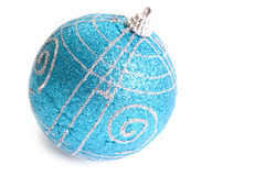 Juguete azul de la Navidad Imagenes de archivo