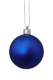 Juguete azul de la Navidad, aislado en el fondo blanco Fotos de archivo libres de regalías