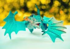 Juguete azul del dragón Foto de archivo libre de regalías