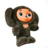 Juguete Cheburashka de la felpa Imagen de archivo