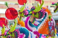 Juguete chino colorido del dragón Imagen de archivo libre de regalías