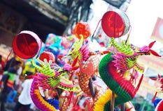 Juguete chino colorido del dragón Imágenes de archivo libres de regalías