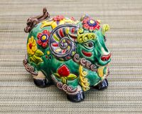 Juguete chino, que representa el año 2015 en el calendario el año de la cabra Fotos de archivo