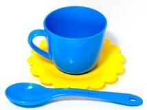 Juguete colorido de la taza de té foto de archivo
