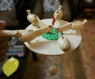 Juguete de alimentación del pollo Imagen de archivo libre de regalías