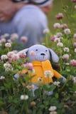 Juguete de Amigurumi Perro Fotos de archivo