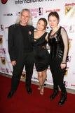 Juguete de Canden, Reiko Yamaguchi y Stefanie Von Guest en los Boobs y la noche de la inauguración internacional del festival de p Fotos de archivo