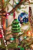 Juguete de cristal del árbol de navidad Imagen de archivo