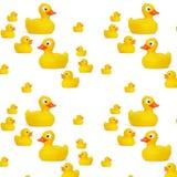 Juguete de goma amarillo del bebé del pato Fotografía de archivo