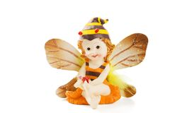 Juguete de la abeja aislado en blanco Imagen de archivo