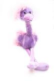 Juguete de la avestruz aislado en blanco Foto de archivo libre de regalías